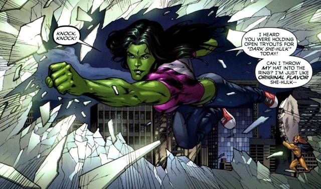 She-Hulk en acción