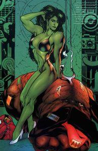 She Hulk en bikini